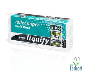 Wepa Liquify Selbstauflösendes Toilettenpapier 2-lagig - 8 Rollen á 250 Blatt