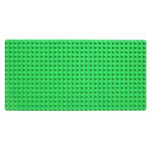 Große Grund- Bauplatte Mit Noppen Für  - 51 cm x 26 cm, Rechteckig Für Häuser uvm. - Riesige Platte für riesigen Spaß dunkelgrün