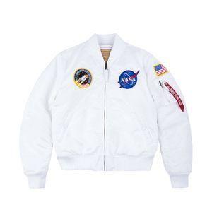 Alpha Industries MA-1 VF NASA Herren Bomberjacke Jacke 166107 white M