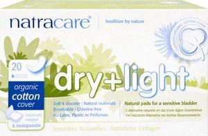 Inkontinenzbinde Dry + Light Inconticence - natracare - 20 Stück