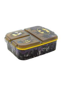 Batman Kinder Premium Brotdose Lunchbox Frühstücks-Box Vesper-Dose mit 3 Fächern