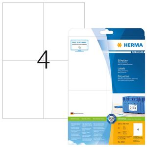 Etiketten Premium A4, weiß 105x148 mm Papier matt 100 St.