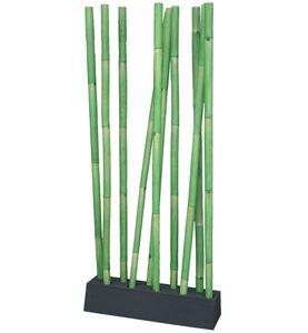 LioLiving® LIO Bambus Raumteiler grün/schwarz