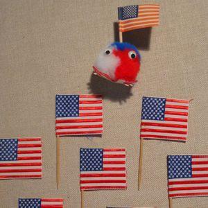 50 teile/los USA Flagge Obst Lebensmittel Zahnstocher Papier Essen Picks Kuchen Zahnstocher Cupcake Obst Sticks Geburtstag Party Zubeh?r GF038