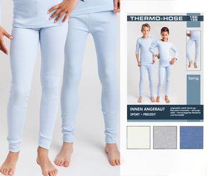 2x  Kinder Thermo Unterwäsche, Farbe:2 Unterhemden wollweiss, Gr. :134/140
