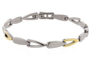 Boccia Damen Armband aus Titan 20cm in Bicolor - 03033-02
