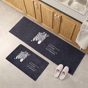 Küche Fußmatte Teppich Thin Griffige Küche Badezimmer Teppich Zimmer Pad Bodenmatte -(MD189,40cmx60cm)