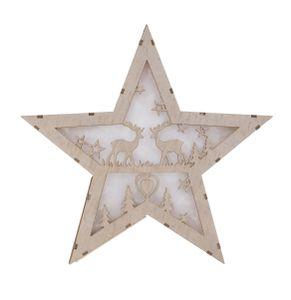Kleenes Traumhandel ca. 10 cm, Stern Typ1 Weihnachtsstern Holzstern als Weihnachtsdekoration Fensterdeko Wanddeko T/ürdeko Stern