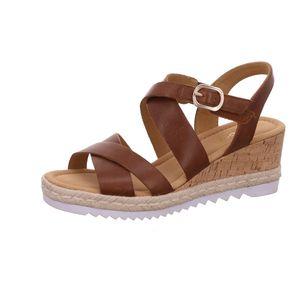 Gabor Comfort Sandalette braun Größe 5, Farbe: peanut (Kork/Ju