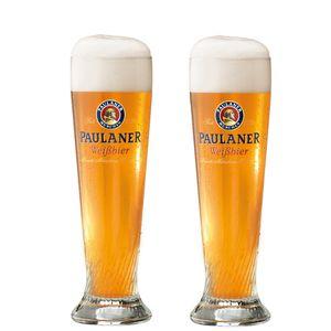 6x Paulaner Weizenbierglas 0,5L