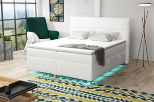 Boxspringbett Schlafzimmerbett CANELA 180x200cm inkl.Bettkasten/ LED