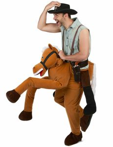Witziges Huckepack-Kostüm Reiter braun