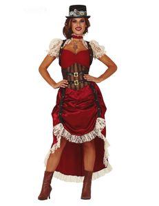 Fiestas Guirca dress up Steampunk Damen rot Größe 42-44