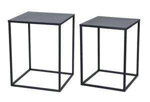 Beistelltisch 2er Set - Metall - in 45 und 40 cm