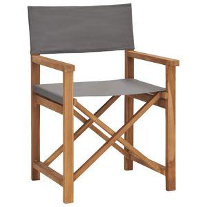 Chunhe Regiestuhl Strandstühle Sonnenliege Gartenliege Relaxliege Schaukelliege Liegestuhl Schaukelstuhl Massivholz Teak Grau