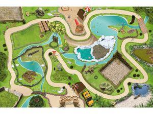 Hochwertige Tierpark / Zoo Spielmatte mit 3D-Effekt # Der perfekte Spielteppich für Ihr Kinderzimmer!