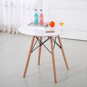 JEOBEST  Esstisch   lässiger Tisch  skandinavischer Stil   MDF Weiß  70X70X75cm