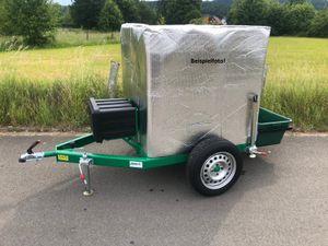 Anhänger mit  IBC-Container 1000L Komplett-Set - mobile Weidetränke, Wasserfass