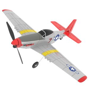 2 Batterie Eachine Mini Gyro RC Airplane Trainer Fixed Mustang P-51D EPP 400mm 2.4G 6-Axis