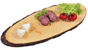 Kesper Rinden-Servierbrett Rindenbrett Holz Servierplatte 60-69 Brett