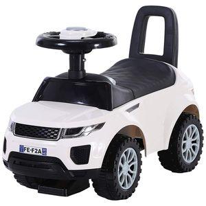 HOMCOM Kinderfahrzeug Rutschauto Lauflernhilfe mit Hupe Stauraum PP Weiß 62 x 28 x 41,5 cm
