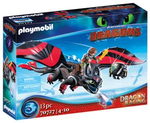 PLAYMOBIL Dragons 70727 Dragon Racing: Hicks und Ohnezahn