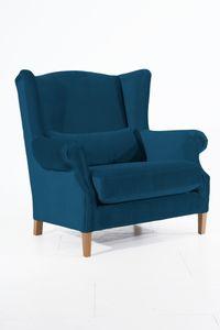 Max Winzer Harvey Big-Sessel - Farbe: petrol - Maße: 115 cm x 95 cm x 117 cm; 30001-1100-2044217-F01