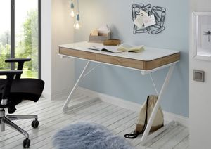 Schreibtisch Bukarest - Weiß matt lackiert