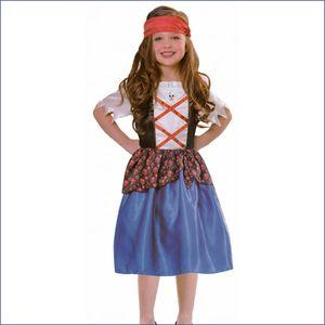 PIRATEN KOSTÜM MÄDCHEN  Kleid Kinder Karneval  Gr.  M: 122 bis 128/134 (7-10 Jahre )