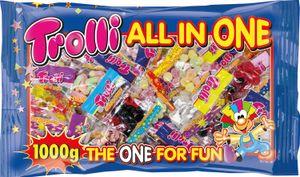 Trolli All in One Fruchtgummi-Mix 50 Minibeutel á 20g, für Karneval oder Party, 1000g