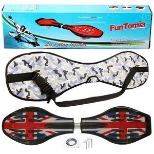 FunTomia® mit LED-Rollen - 2274 - Design England Flagge - Waveboard ORIGINAL