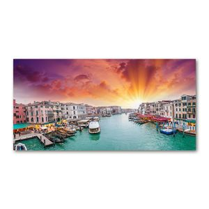 Tulup® Leinwandbild - 120x60 cm - Wandkunst - Drucke auf Leinwand - Leinwanddruck - Landschaften - Mehrfarbig - Venedig