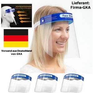 GKA 3 Stück hochwertige Gesichtsschutz Visiere mit weichem Stirnband beschlägt nicht Gesichtsschilder Nasenabdeckung Mundabdeckung Mundschutz wieder verwendbar Visier