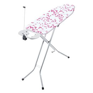 Vileda Viva Express Eco pink Bügelbrett Bügeltisch Höhenverstellbar 120 x 38 cm