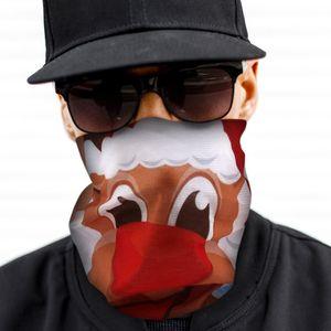 Multifunktionstuch 9 - Gesichtsmaske Schlauchschal Mund Nase Maske Halstuch Weihnachten Rentier lustig