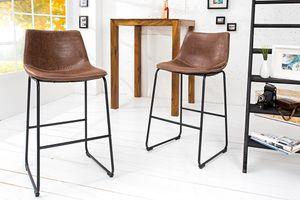 Design Barstuhl DJANGO vintage braun mit Eisengestell Barhocker Hocker Küchenstuhl Küche Tresen Stuhl