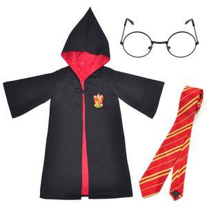 Kinder Zauberer Kostüm von Harry Potter | Mantel, Brille & Krawatte | Größe: 120