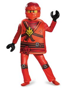 Lego Kai Ninjago-Kinderkostüm Ninja rot