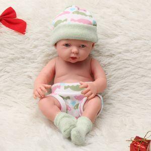 Lebensechte Neugeborene Babypuppe Realistische Weiche Vinyl Reborn Babypuppe Babybett Spielzeug Kinder Kleinkind Schlafspielzeug