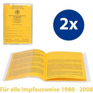 mumbi 2x Impfpass Hülle Schutzhülle Impfpasshülle für ALTEN Impfausweis Schutz Tasche, transparent (1980-2008)