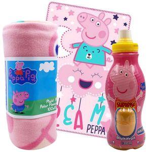 Peppa Pig Geschenkset mit Kuscheldecke und Surprise Drink