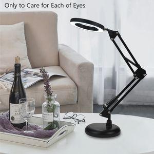 LED Lupenlampe 5x Lupe Arbeitsleuchte Tischlupe USB Stand Lupenleuchte