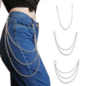 3er Herren Damen Schlüsselkette Geldbörsen Kette Hosenkette, Hip Hop Punk Style Hose Metallkette