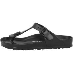 BIRKENSTOCK Gizeh Sandalen Schwarz Schuhe, Größe:38