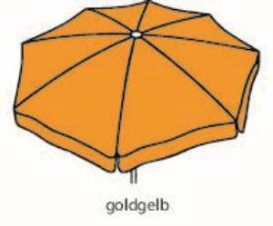 Best Sonnenschirm Großschirm Ibiza 400cm/8-tlg. goldgelb; 8430077