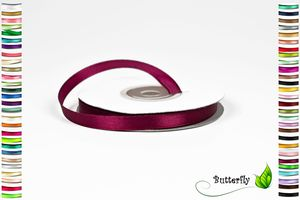 25m Rolle Satinband 6mm , Farbauswahl:dunkel bordeaux 275