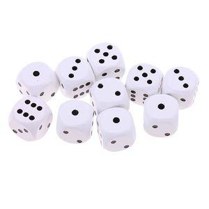 10 Stücke Holz Würfel D6 Punktiert Würfel Für D u0026 D Trpg Mtg Brettspiel Spielzeug Farbe Weiß