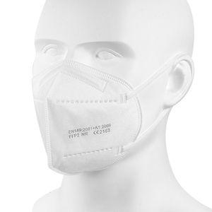 FFP2 Maske, CE-zentrale fünfschichtige FFP2 Schutzmaske, 95% Einwegmaske (50 Stück)