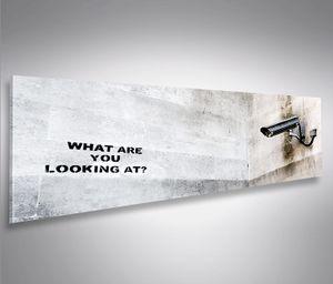 Bild Bilder auf Leinwand Banksy Modern Art Panorama  - XXL Eyecatcher von islandburner Poster Leinwandbild Wandbild