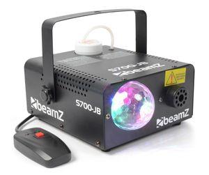 Beamz S700-JB Nebelmaschine mit Licht Fernbedienung und Nebelfluid (700W, 3x 3W 3RGB-LED, 75m³/Minute)